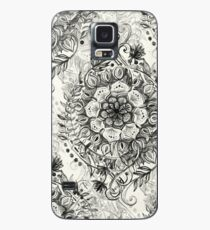Messy Boho Floral in Charcoal and Cream  Case/Skin for Samsung Galaxy