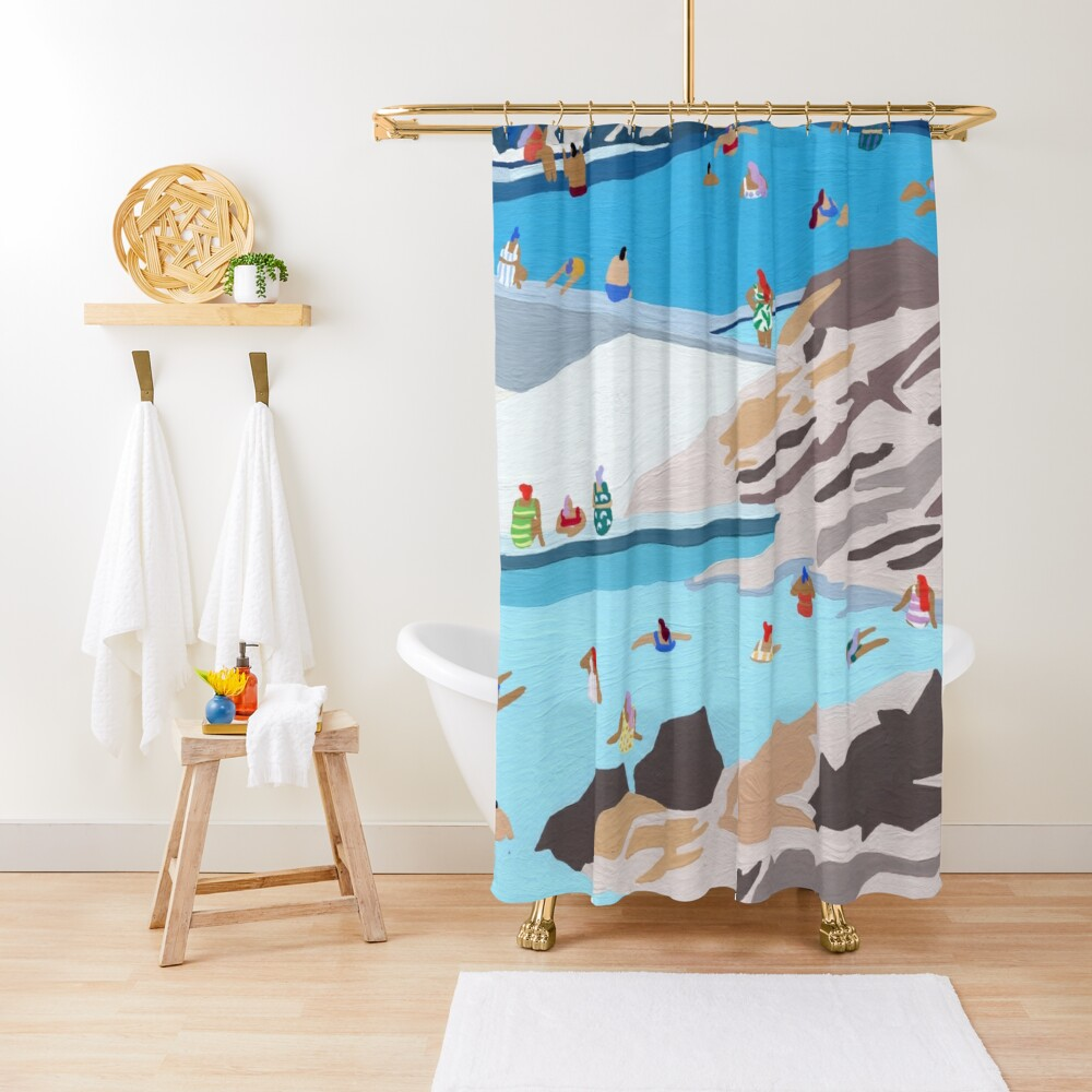 Rock pools Shower Curtain