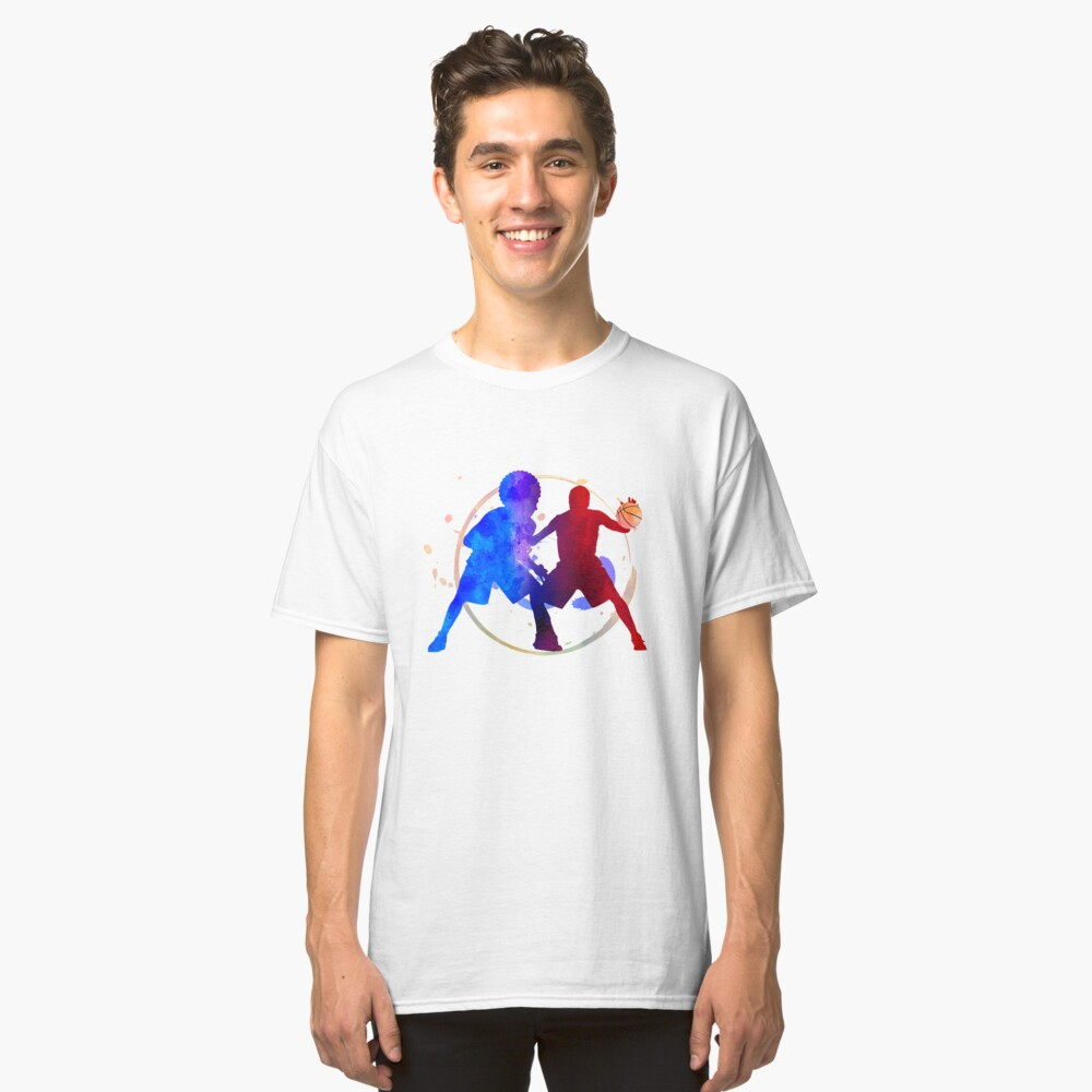 basketball player duel fight Classic T-Shirt