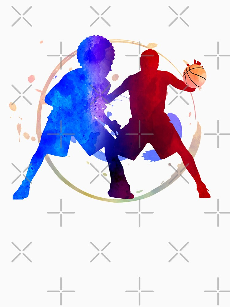 basketball player duel fight by onicon