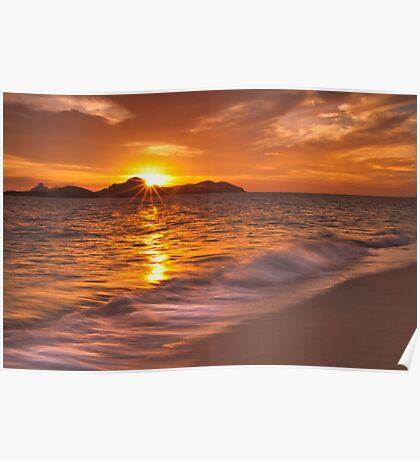 Texture like sun Poster