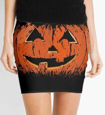 Vintage Happy Halloween Pumpkin Mini Skirt