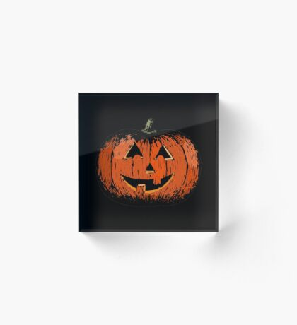 Vintage Happy Halloween Pumpkin Acrylic Block