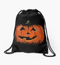Vintage Happy Halloween Pumpkin Drawstring Bag