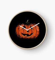 Vintage Happy Halloween Pumpkin Clock