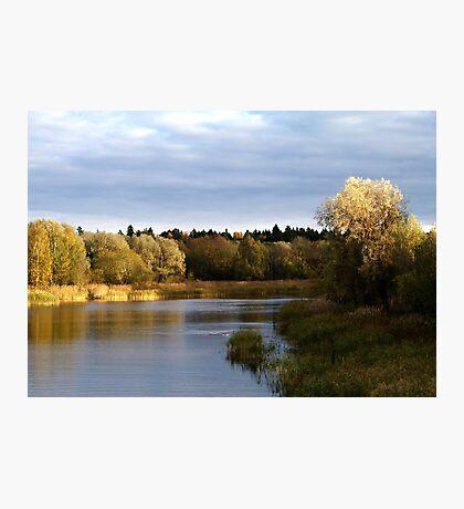 Autumn river Photographic Print