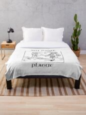 Not Today, Plague Throw Blanket