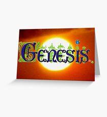 Genesis. Greeting Card