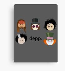Depp. (Johnny Depp characters) Canvas Print