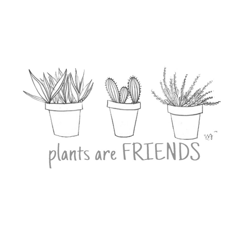 plants are friends by yuvalhat redbubble. Black Bedroom Furniture Sets. Home Design Ideas