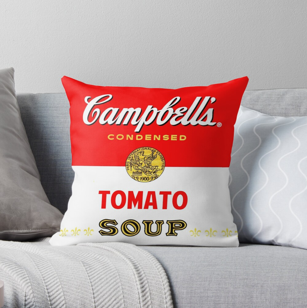 Campbell's Soup Throw Pillow