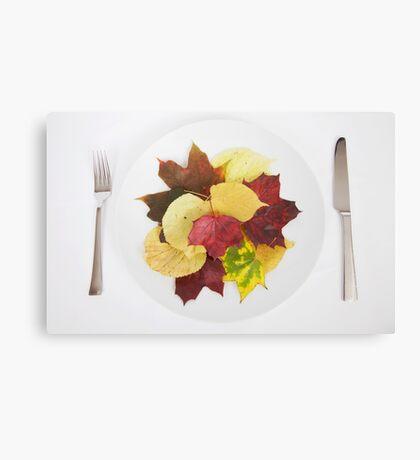 autumn menu Canvas Print