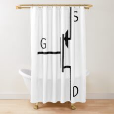 Mosfet symbol, #mosfet, #symbol, #MosfetSymbol, #SymboleMosfet Shower Curtain