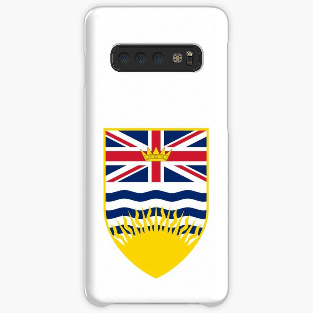 Escudo de armas de la Columbia Británica, Canadá Funda y vinilo para Samsung Galaxy