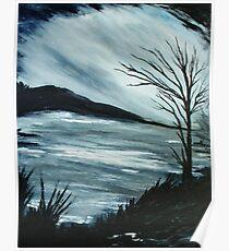 Black and White Landscape Poster