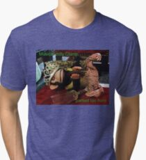 Musical Jolly Chimp Partied Too Hard Tri-blend T-Shirt