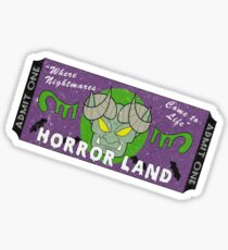 Horrorland Ticket Sticker