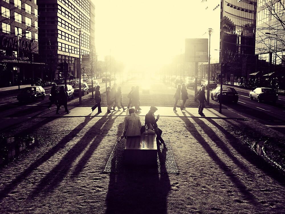 Sunset at Potsdamer Platz by Ulf Buschmann