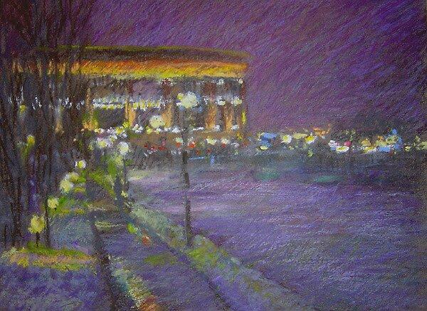 Night city by Julia Lesnichy