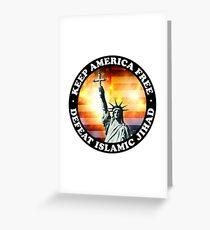 Keep America Free Greeting Card