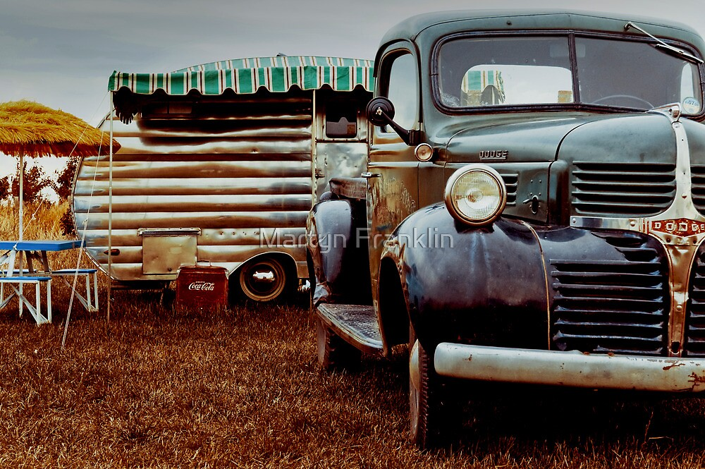 1940's Dodge pick-up and caravan by Martyn Franklin