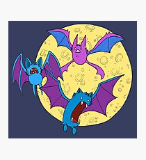 Zubat, Golbat, and Crobat Photographic Print