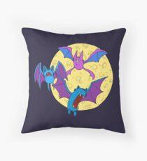 Zubat, Golbat, and Crobat Throw Pillow