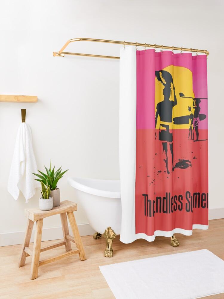 Alternate view of Endless Summer, 1966 Surf Sport Documentary Poster, Artwork, Prints, Posters, Tshirts, Men, Women, Kids Shower Curtain