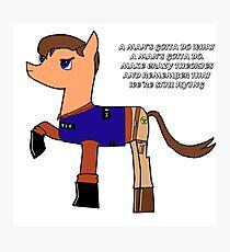 Nathan pony fillion Photographic Print