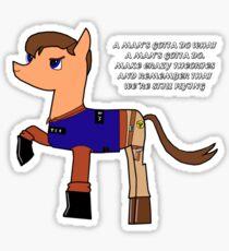 Nathan pony fillion Sticker