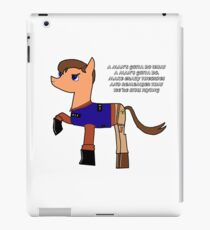 Nathan pony fillion iPad Case/Skin