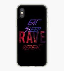 Essen. Schlaf. Rave. Wiederholen iPhone-Hülle & Cover