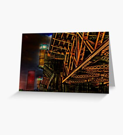 Bridge in Portland Oregon Greeting Card