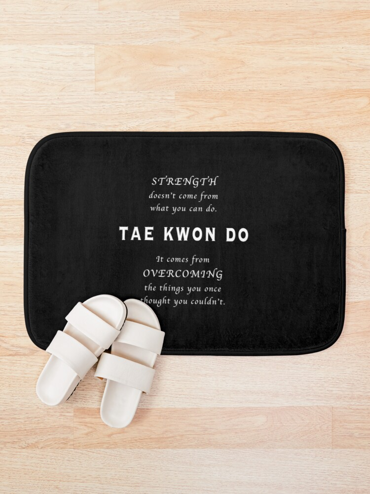 Vista alternativa de Alfombra de baño Cita Inspirada de Tae Kwon Do