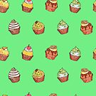 cupcakes_green by hahaha-creative