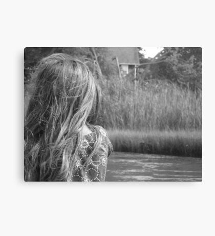 Sea Wind Through Her Hair Canvas Print
