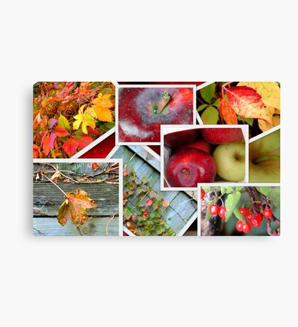 Autumn's Collage of Beauty ©  Canvas Print