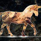 Unicorn Light: fluid acrylic paint pour digital art; fantasy painting by kerravonsen