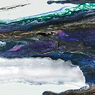 Water Dragon: fluid acrylic pour painting, digital art; fantasy painting by kerravonsen