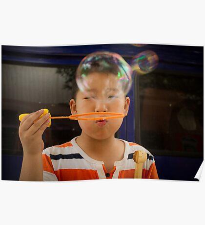 bubbles. Poster
