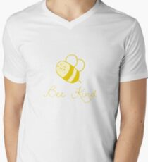 Yellow Bee Kind V-Neck T-Shirt