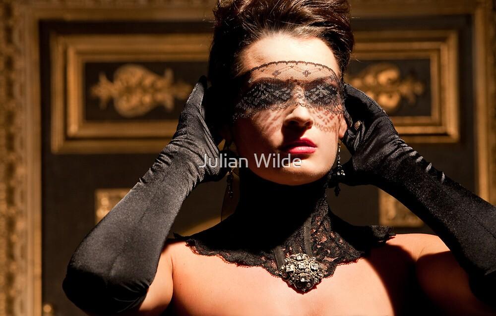 """""""Lady Shea Marie in Her Blindfold."""" by Julian Wilde"""