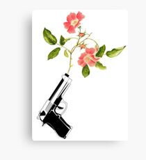 Shoot Flowers, Not Bullets  Canvas Print