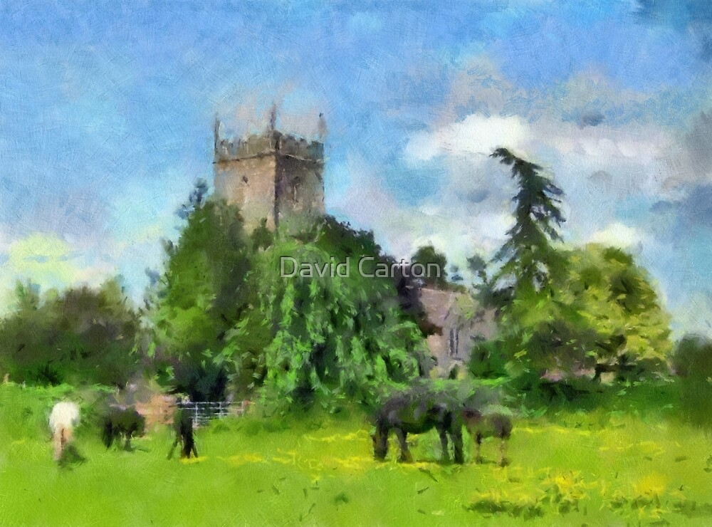 Pastoral scene, Frampton On Severn, Gloucestershire, UK by David Carton