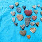 Heart o Heart Rocks - Turqouise by LoveRockResidue