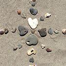Beach Heart Mandala by LoveRockResidue