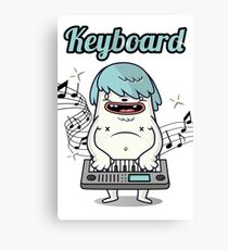 Musician Keyboard player Canvas Print