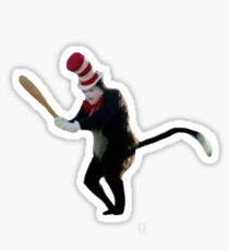The Cat In The Hat Holding A Baseball Bat Sticker