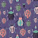 Beetle Parade Purple by Heather Rosas