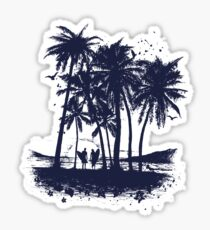 Palm Sunset - Hand drawn Sticker